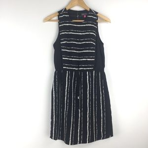 Vince Camuto Size 4P Sleeveless Striped Mini Dress